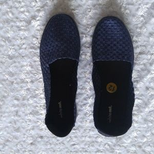 NWOB White Mountain Navy Basket Weave Flat Shoes
